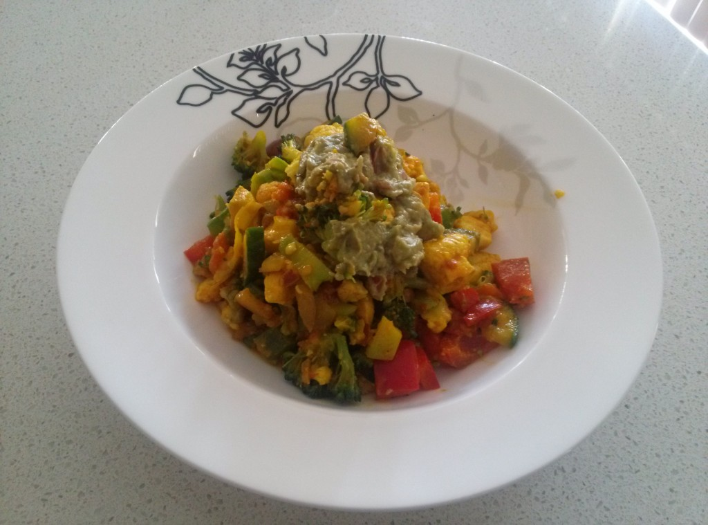 Yellow veggie salad