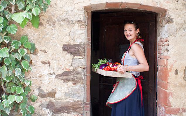 Irena Macri in Tuscany